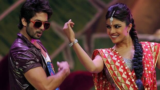 Bollywood stars Shahid Kapoor (left) and Priyanka Chopra perform on stage during the International Indian Film Academy (IIFA) awards ceremony in Singapore. The Times of India Film Awards will be held in Vancouver in April.