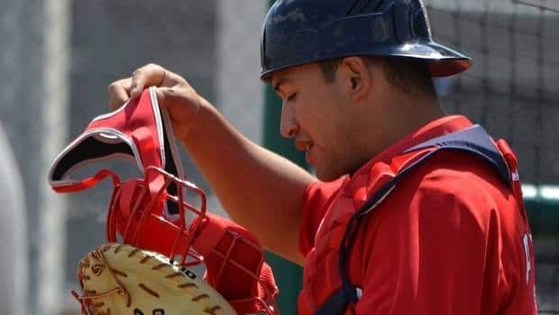 """Red Sox farmhand Josue Peley, shown here, will never forget his first and only meeting with veteran major league shortstop Omar Vizquel. """"He gave me his batting gloves and his bat and he told me to keep working hard. He said, 'Just believe in yourself and good things will happen.'"""""""