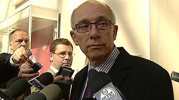 Mayor Stephen Mandel speaks with reporters Following a two-hour meeting behind closed doors Wednesday.