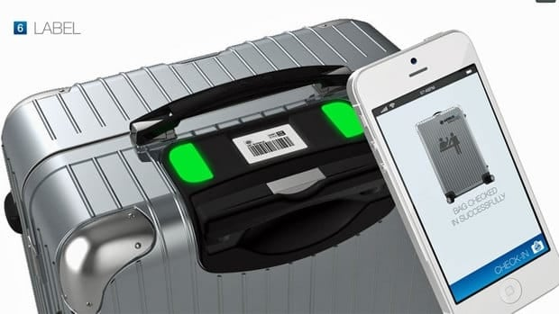 The Bag2Go smart suitcase creates a unique bar code for every flight that allows the bag to be tracked from departure to destination using a smartphone application.
