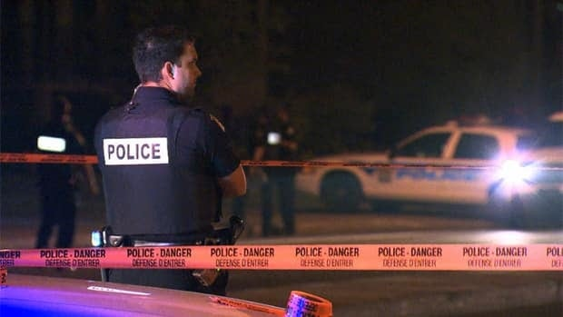 Police are going door-to-door in the neighbourhood looking for potential witnesses.