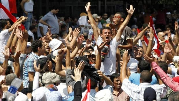 Supporters of ousted Egyptian president Mohamed Morsi  protest in Cairo Friday during a so-called day of rage.