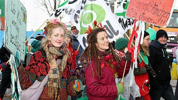 Over the weekend crowds protested in the streets of Berlin over global agricultural policies and food safety issues.