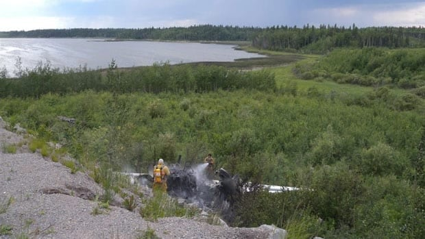 A plane went off the runway during takeoff in Pukatawagan in northwestern Manitoba, July 4.