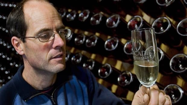 Bruce Ewert, owner of L'Acadie Vineyards, inspects a wine at his cellar in Gaspereau Valley, N.S. Dan Albas, a Conservative MP from B.C.'s Okanagan Valley, is urging parliamentarians to pass a bill that would allow Canadians to import wine from other provinces.