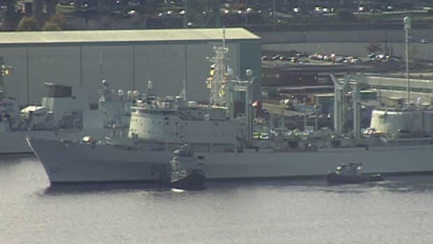 HMCS Preserver ran into a floating dock in Halifax Nov. 4 after undergoing a $45-million refit.