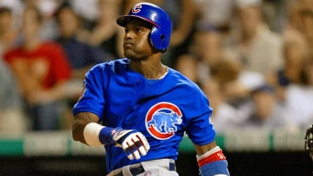 Sammy Sosa, seen in this 2004 file photo while playing for the Chicago Cubs, thinks he and Mark McGwire should be in the Baseball Hall of Fame.