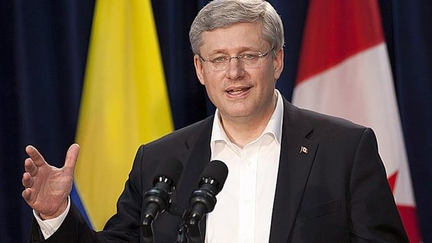 Prime Minister Stephen Harper speaks with the media following the closing of the Summit of the Americas in Cartagena, Colombia, Sunday. After listening to Latin American leaders, Harper conceded the war on drugs has not worked.