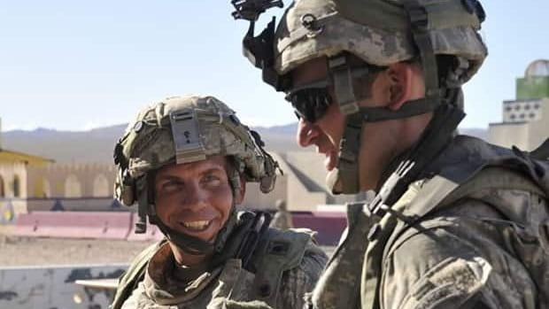 Staff Sgt. Robert Bales, left, takes part in an August 2011 exercise at the National Training Center at Fort Irwin, Calif. The 38-year-old is accused of killing 16 Afghans, including nine children, in March 2012.