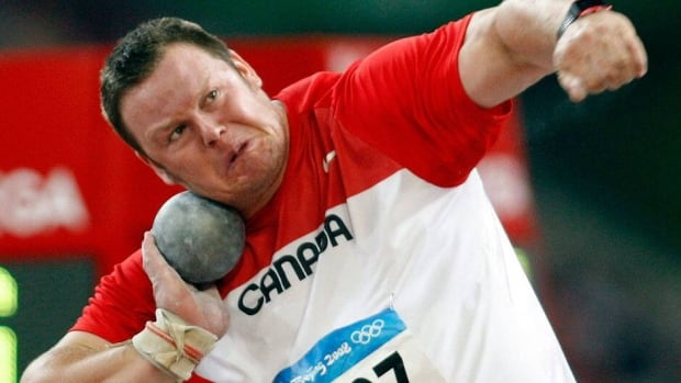 Canada's Dylan Armstrong, seen here during the shot put final at the 2008 Summer Olympics in Beijing, was awarded bronze from the 2005 world indoor championships after the IAAF annulled the results of silver medallist Andrei Mikhnevich.