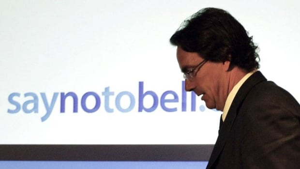 President and CEO of Quebecor Inc., Pierre Karl Peladeau, took part in a news conference in Ottawa last August asking the federal government to disallow a proposed takeover of Astral Media Inc. by Bell Media.