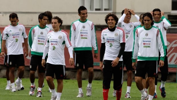 Mexican players participate in a practice session in Mexico City in August 2012. Mexico will play Brazil, Japan and Italy in Group A of the Confederations Cup.