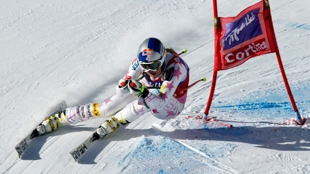 The four-time overall champion Lindsey Vonn, who took 27 days off recently to regain her strength from an intestinal problem, clocked 1 minute, 38.25 seconds down the Olympia delle Tofane course on Saturday.