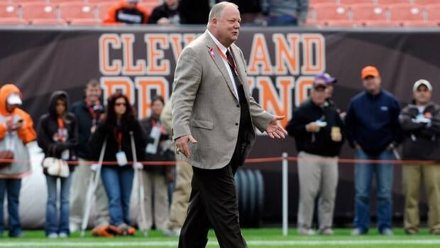 Cleveland Browns outgoing president Mike Holmgren says he does not yet know if he will stay working in football.