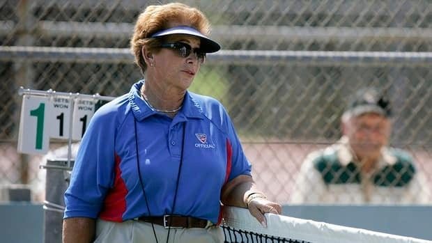 In this photo taken in 2008, tennis referee Lois Goodman is shown while officiating a tournament. On Nov. 30, citing insufficient evidence, Los Angeles prosecutors dropped the murder case against Goodman and now USTA officials have reinstated the 70-year-old.