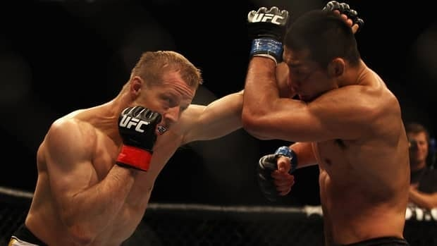 Nick Ring of Canada, left, is on the card of UFC 149 in Calgary on July 21.