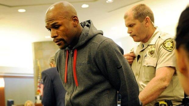 Floyd Mayweather Jr. pleaded guilty in December to misdemeanour domestic battery and no contest to two harassment charges that stemmed from an attack on his ex-girlfriend while two of their children watched.