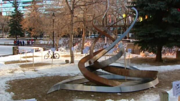 The Occupy Calgary sculpture will remain in storage until a statement form is submitted, city officials said.