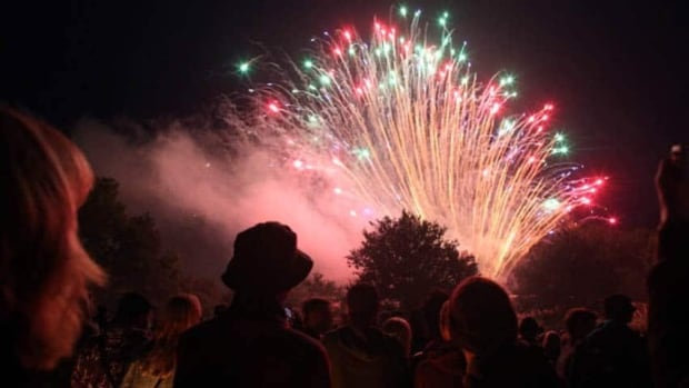 Firework displays will explode into the sky across the city at 11 p.m. Tuesday.