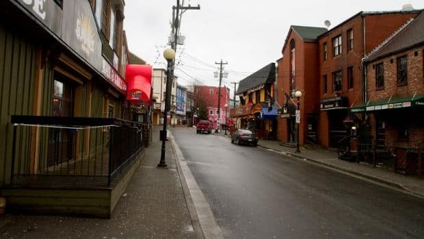 George Street is home to a popular strip of clubs and bars in downtown St. John's.