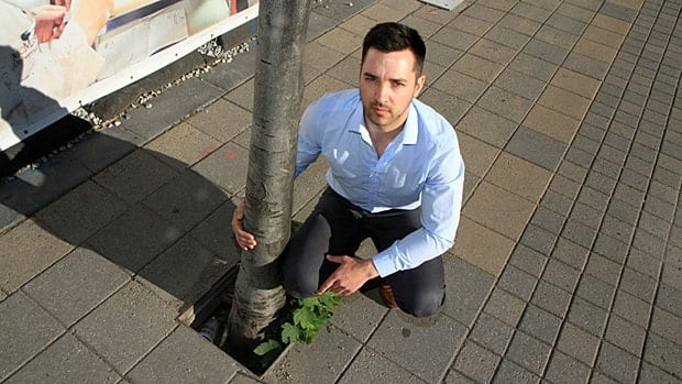 Nicholas Schwetz of Ward 1 says trees are dying along Hamilton city streets. He'd like to see the city plant more native species and have a better monitoring program.
