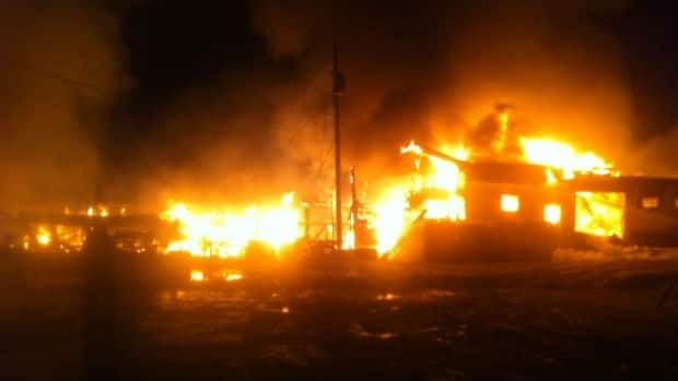 A fire destroyed several businesses overnight in Springdale.