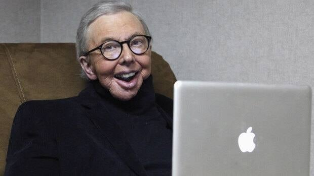 Pulitzer Prize-winning movie critic Roger Ebert is shown Jan. 12 at his office at the WTTW-TV studios in Chicago. The Sundance Institute will present him with the Vanguard Leadership Award in recognition of his advocacy of independent film.