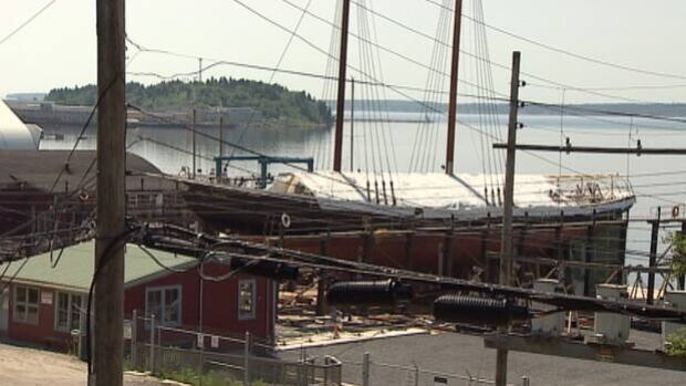 The original Bluenose was famous for winning every race in 18 years of competition after its launch in 1921. It was built in Lunenburg in the same shipyard as the current renovation.