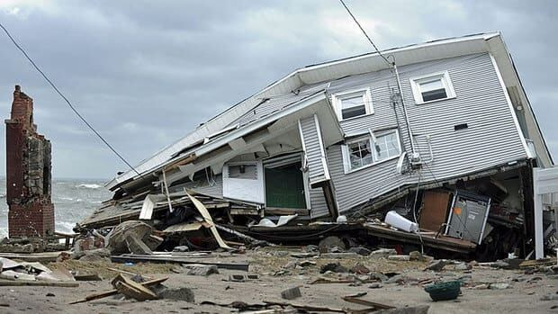 The devastation wrought by superstorm Sandy along the U.S. East Coast in late October 2012 could cost up to $50 billion.