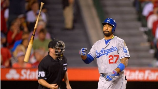 Slumping Los Angeles Dodgers' centre fielder Matt Kemp is 1 for 17 with 10 strikeouts in his last six games.