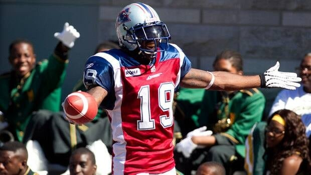 Montreal Alouettes receiver S.J. Green had 10 catches for 168 yards and a touchdown against the Hamilton Tiger-Cats last Thursday.