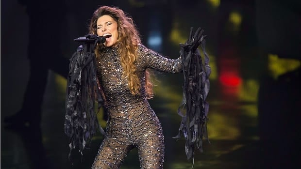Shania Twain performs at the opening night of her two-year residency at The Colosseum at Caesars Palace on Saturday in Las Vegas.