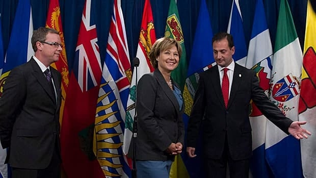 B.C. Premier Christy Clark hosted premiers for the Council of the Federation Meeting in January. Clark told the B.C. legislature last Friday that provinces want compensation from the federal government for any increased drug costs arising from a free trade deal with Europe.