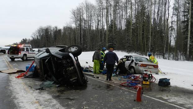 Car Accident Near Lac La Biche