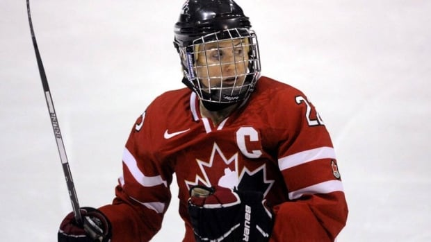 Hayley Wickenheiser left Canada's game against the U.S. on Tuesday with an upper body injury.