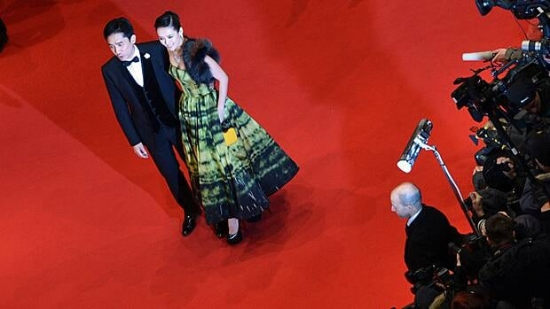 Chinese actors Zhang Ziyi and Tony Leung pose on the red carpet of the opening film of the Berlinale film festival, The Grandmaster.