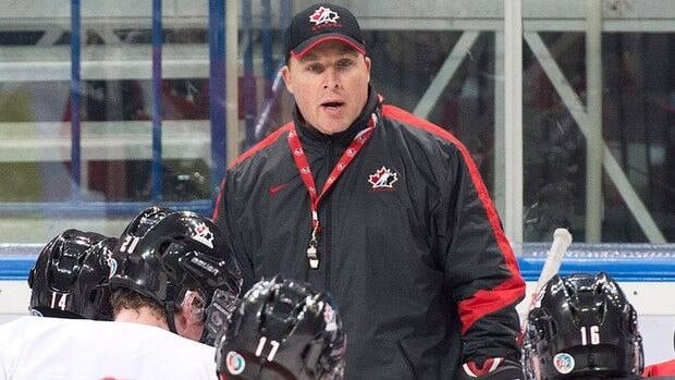"Canada head coach Steve Spott, seen here at practice Friday in Ufa, Russia, says his players have an ""obligation to the fans of our country, to our families, to our friends to empty our tanks tomorrow and get on that plane with a medal."""