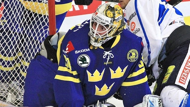 Joacim Eriksson, seen in international competition for Sweden, is 24 years old.