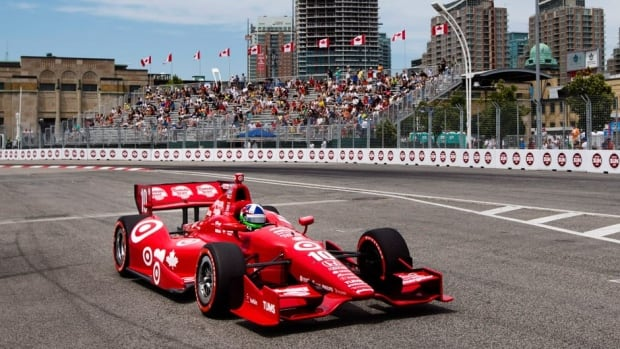 Driver Dario Franchitti of Scotland was second overall in qualfying for Sunday's race.