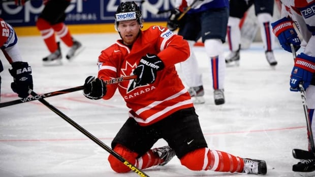 Claude Giroux played for Canada at this year's world championships after his Philadelphia Flyers failed to make the NHL playoffs.