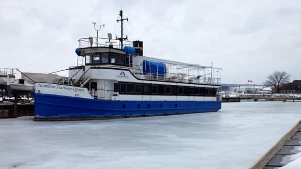 The Hamilton Harbour Queen waits for a new season to begin. This year it will be without the man who's captained her ever since she came to town.