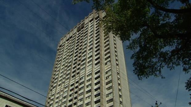 The assault happened near Fenwick Tower, the city's tallest apartment building.