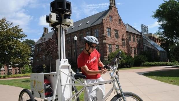 Google's Street View trike was riding across Mount Allison University's campus in Sackville earlier this week.