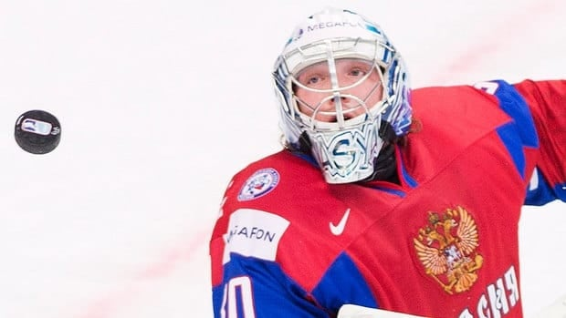 Russia goalie Andrei Vasilevski stopped 41 of 44 shots in regulation and overtime to help his team to a 4-3 shootout win over Switzerland on Wednesday at the world junior hockey championship.