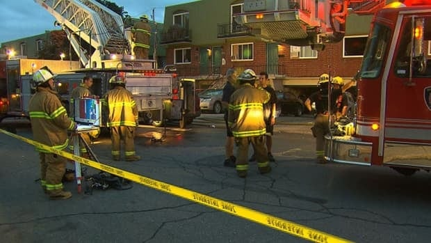 The fire broke out in a townhouse-type dwelling in Lachine.