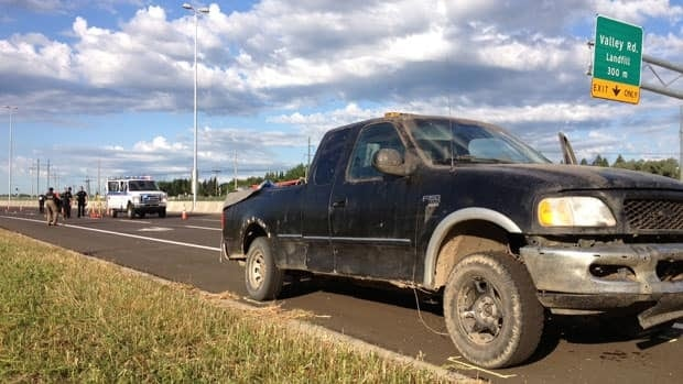 Alexander Holdner's body was found in this truck on the shoulder of Circle Drive late Thursday night.