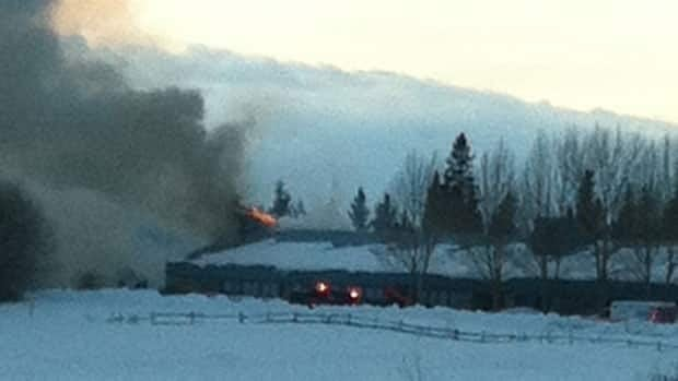 A fire on the Thunderchild First Nation has put about 70 people out of their homes.