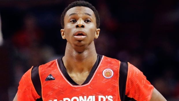 Andrew Wiggins scored 19 points to lead his East team Wednesday at the 36th McDonald's All-American game.