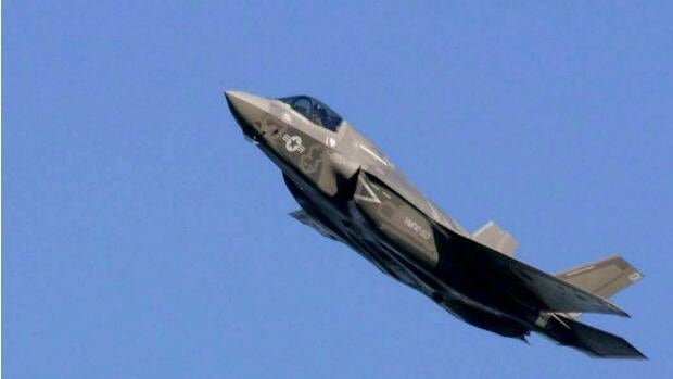 The first Marine Corps version of the Joint Strike Fighter, the F-35B, as it arrives at Eglin Air Force Base, Fla., Wednesday, Jan. 11, 2012 from the Lockheed Martin facility in Fort Worth, Texas.