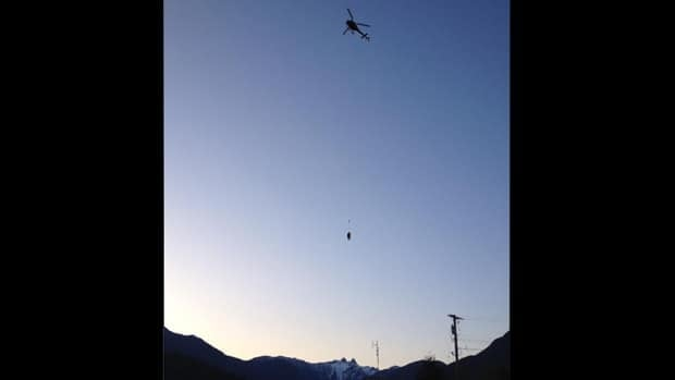 """North Shore Rescue was able to rescue the hikers with a helicopter """"long line"""" Tuesday evening."""